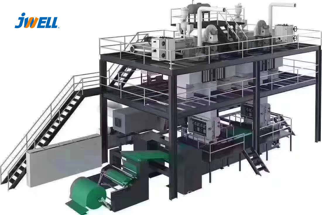 Jwell Hot Product PP 1600mm Melt-Blown Non-woven Fabric Plastic Sheet Extrusion Line